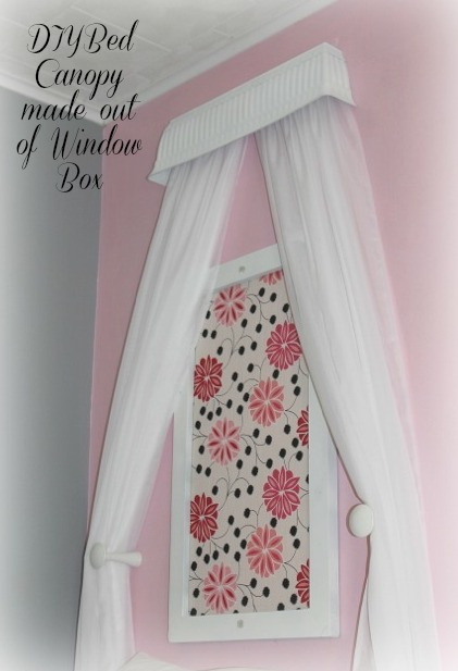 See how you can take a $6.00 Window Box and turn it into this beautiful bed canopy!