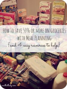 Are you wondering how to save money on your groceries? Meal planning could be your answer - save 50 of more every week with these tips!
