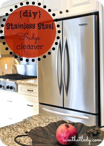How to clean your stainless steel fridge with things you have in your home already!  Simple and free!