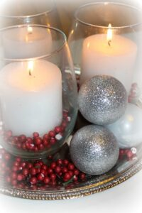 It seems like many Christmas themed centerpieces are SO overpriced! Here is a quick and easy centerpiece that you can make for under $12.00 - all with supplies from the Dollar Store! Click on picture for tutorial.