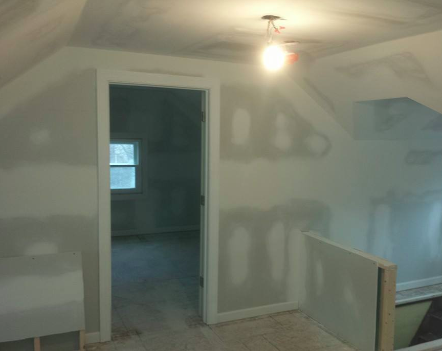 Attic - After drywall