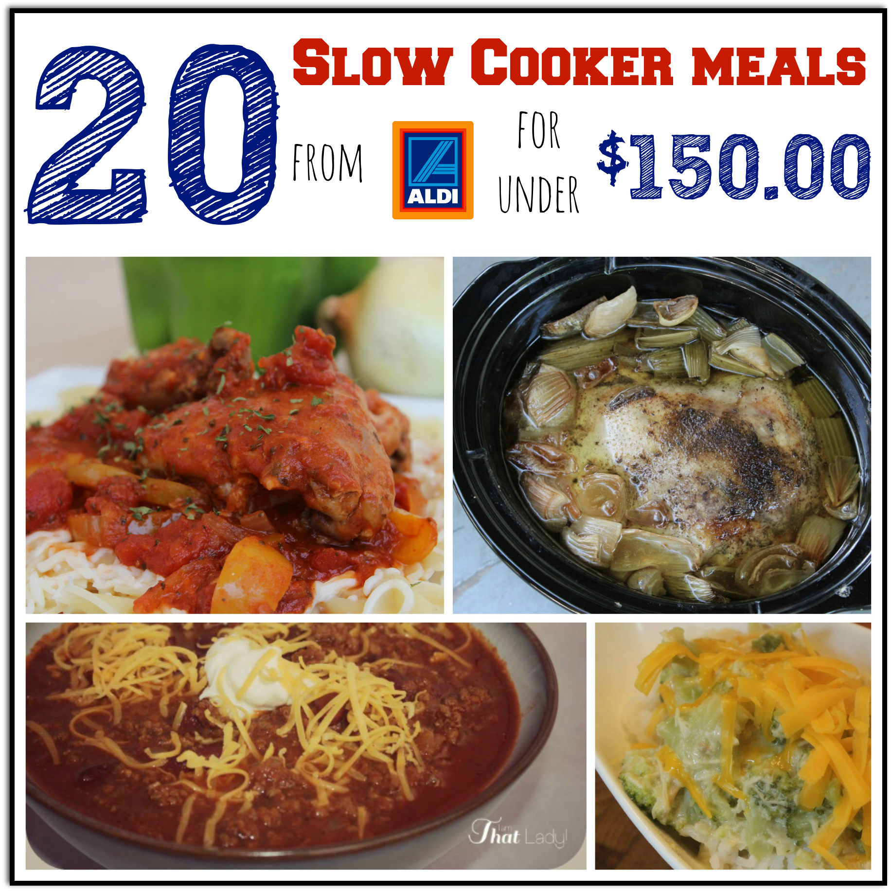 Slow Cooker Dinners: 20 Slow Cooker Meals For Under $150.00 At Aldi