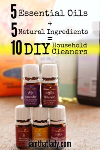 5 Essential Oils + 5 Natural Ingredients = 10 DIY Household Cleaners