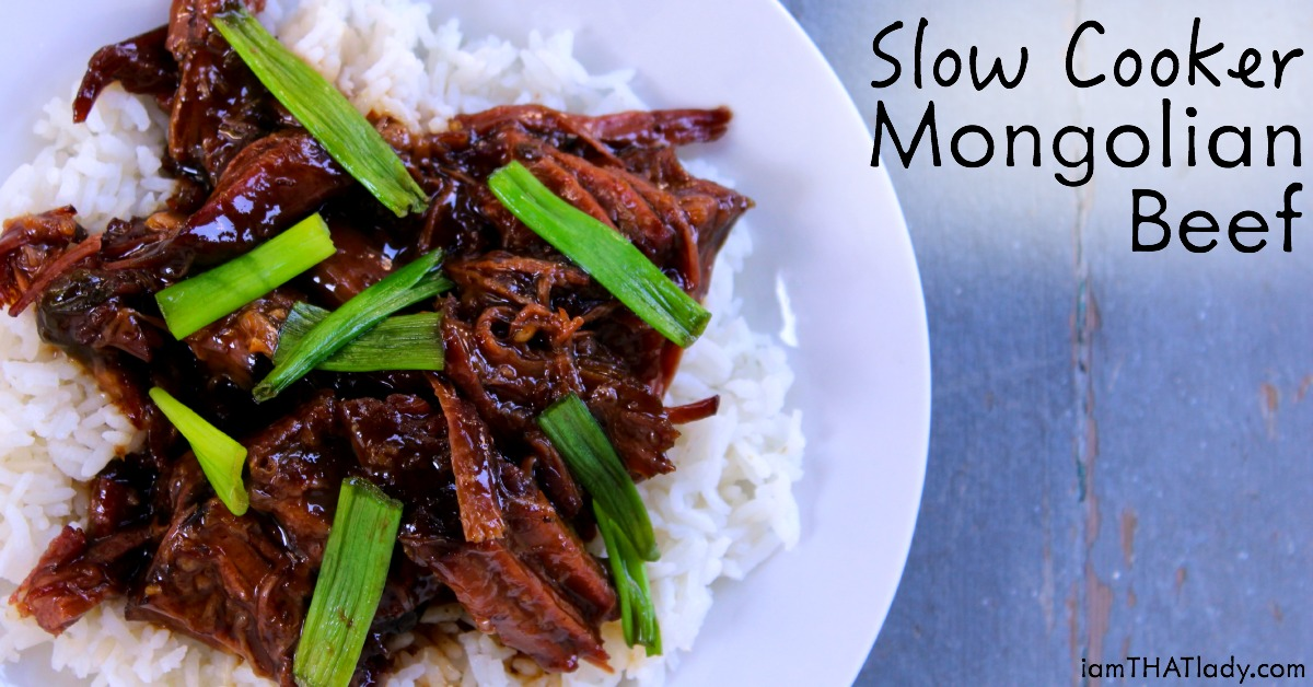 Slow Cooker Mongolian Beef - I am THAT Lady