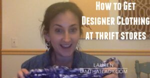 designer clothing thrift store fb
