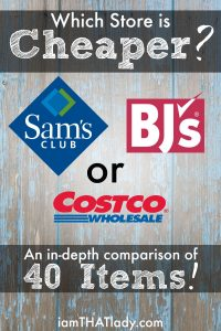 BJ's vs Costco vs Sam's Club: Price Comparison