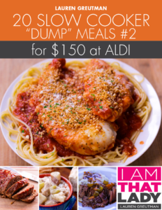 Aldi Dump Meal Plan Slow Cooker Comfort Food Edition